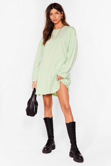 Sage Drop What You're Doing Relaxed Mini Dress