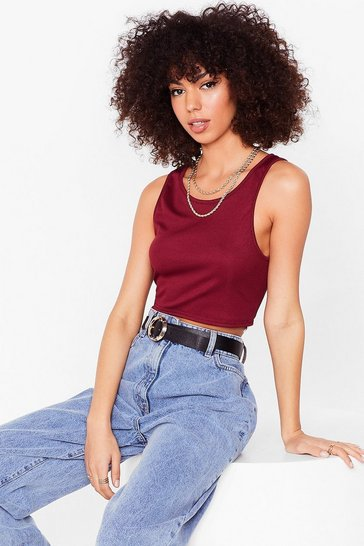 Berry Come Up Short Cropped Vest Top