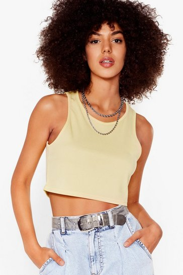 Lemon Racer Back Cropped Vest Top