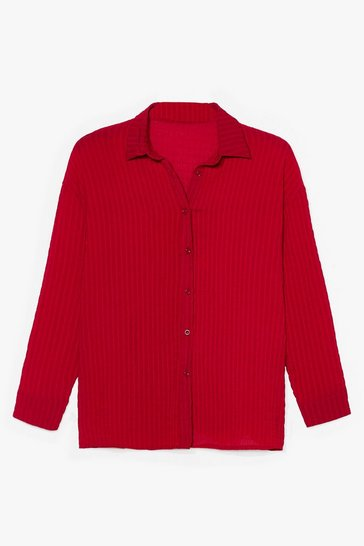 Red Wrap Front Blouse