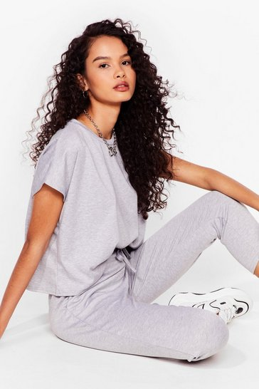 Grey Relaxation Station Relaxed Tee and Joggers Set