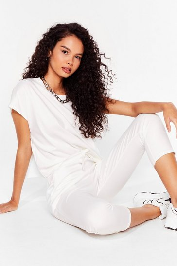 Ivory Relaxation Station Relaxed Tee and Joggers Set