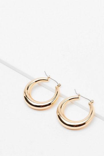 Gold Ear Me Out Chunky Hoop Earrings