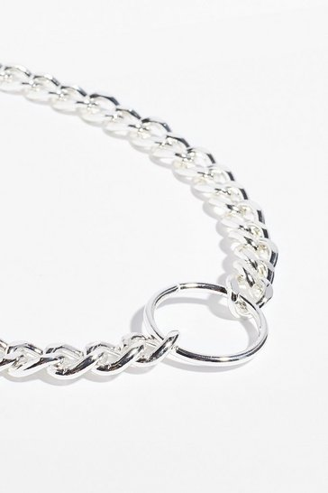 Silver Spin Me Round Chunky Chain Necklace
