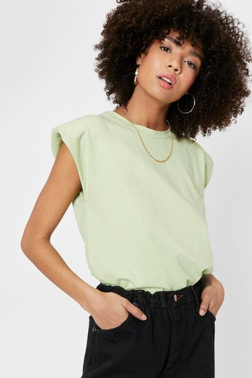 Mint Shoulder Pad to Cry on Jersey Tank Top