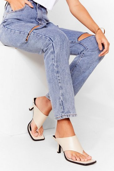 Off white Time Toe Move on Quilted Heeled Mules
