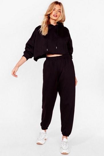 Black It's Just That Easy Joggers Lounge Set