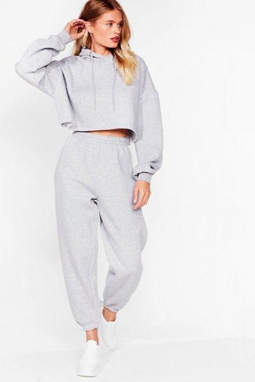 Grey It's Just That Easy Joggers Lounge Set