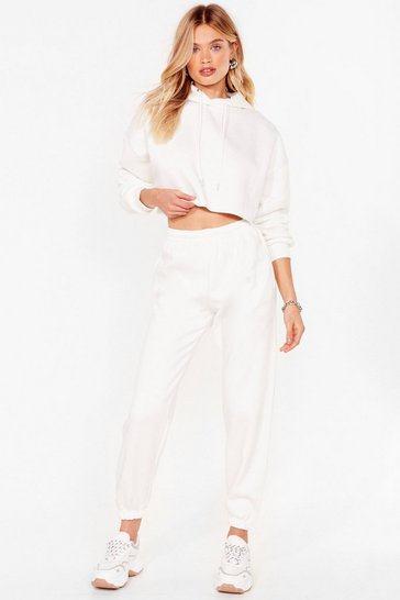 White It's Just That Easy Joggers Lounge Set
