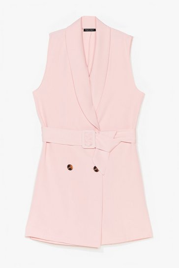 Rose Stand Tall Tailored Belted Romper