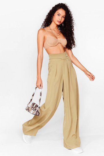 Sage Woman's World High-Waisted Wide-Leg Pants