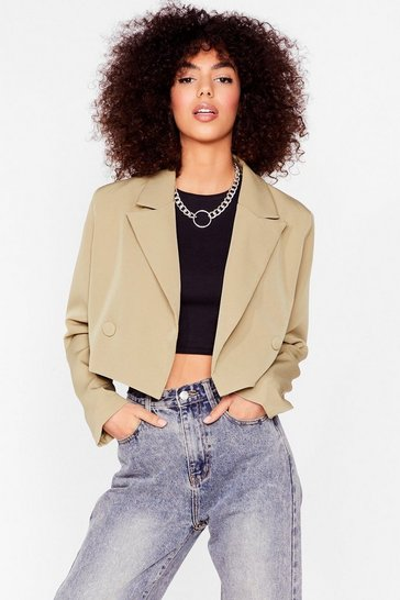 Sage Woman's World Cropped Blazer