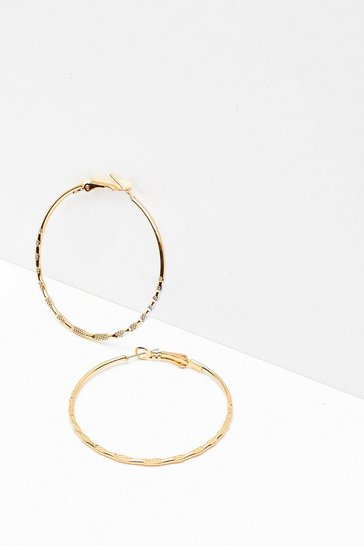 Gold Listen Up Oversized Hoop Earrings