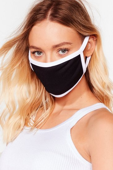 Black Contrasted Binding Face Mask