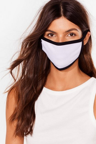 White Contrasted Binding Face Mask