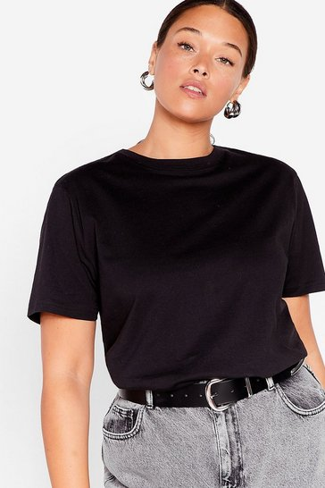 Black Face the Face Plus Relaxed Tee
