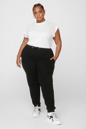 Black Plus Size Basic Jogger