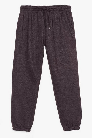 Charcoal Plus Size Basic Jogger