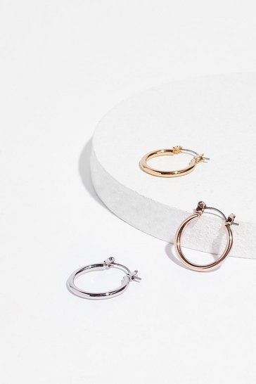 Gold The Ear and Now 3-Pc Hoop Earring Set