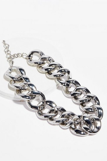 Silver It's Your Big Moment Chunky Chain Necklace