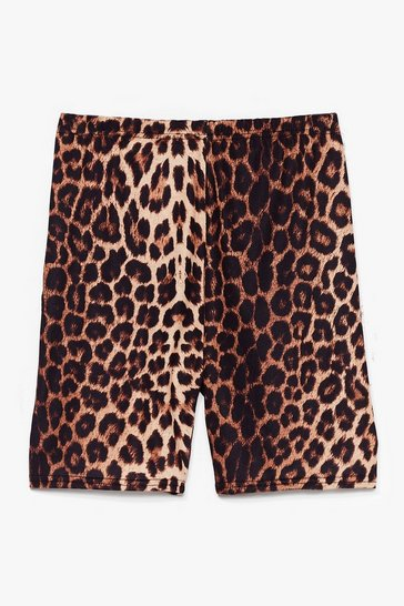 Black Love Her Wild Leopard Biker Shorts