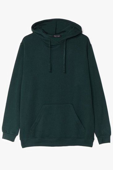 Green Oversize and Conquer Plus Pullover Hoodie