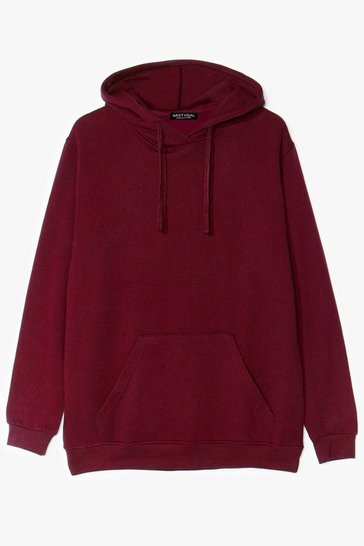 Maroon Oversize and Conquer Plus Pullover Hoodie