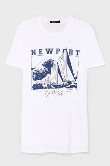 White New Port Graphic Tee