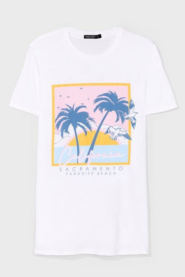 White Cali Graphic Tee