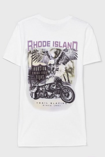 White Rhode Island Graphic Tee