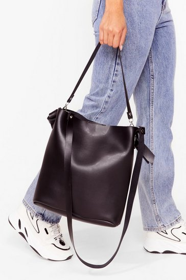 Black WANT Oh Tote-lly Faux Leather Bag