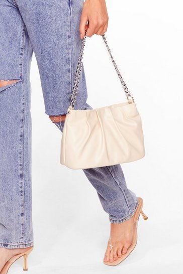 Stone WANT When Two Minds Pleat Slouch Bag