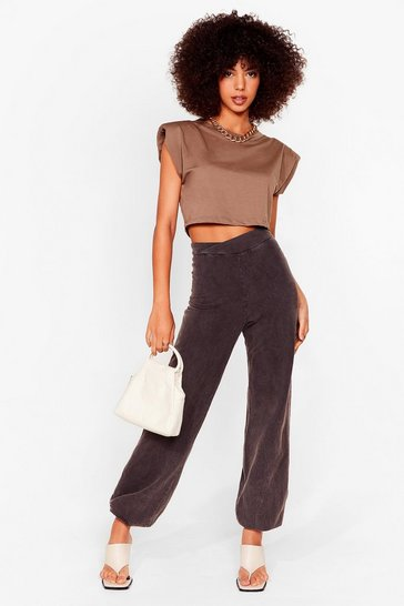 Charcoal Wash Out for Me High-Waisted Relaxed Joggers