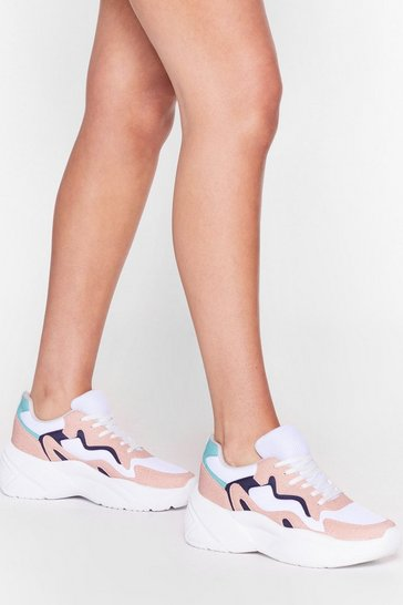 Multi Do a Little Dance Colorblock Chunky Trainers