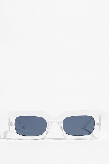 Clear Rectangle Frame Sunglasses