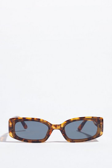 Brown RECTANGLE TORT SUNGLASSES