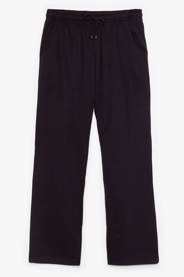 Black Let's Run High-Waisted Tapered Joggers