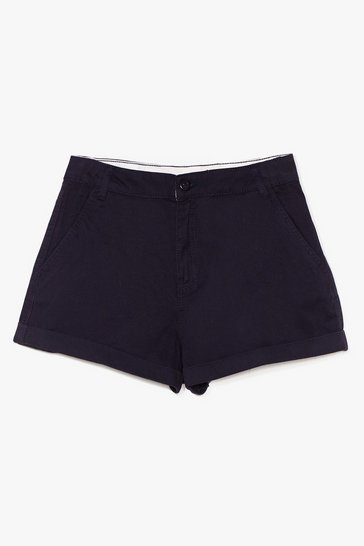 Navy All Eyes on You Twill Shorts