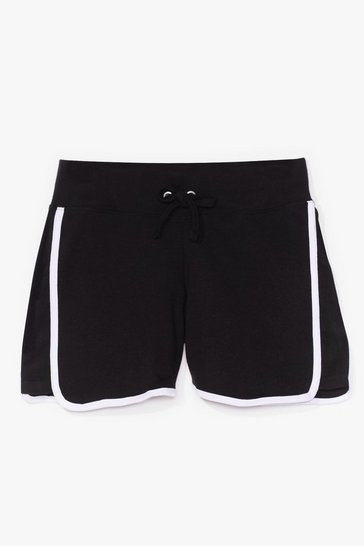 Black Run Around High-Waisted Shorts