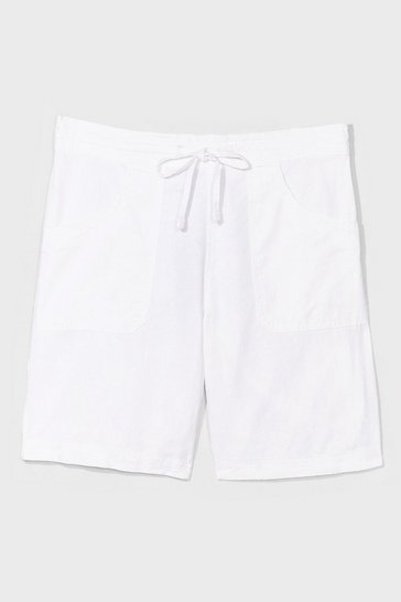 Stone You're the Real Linen Here Longline Shorts