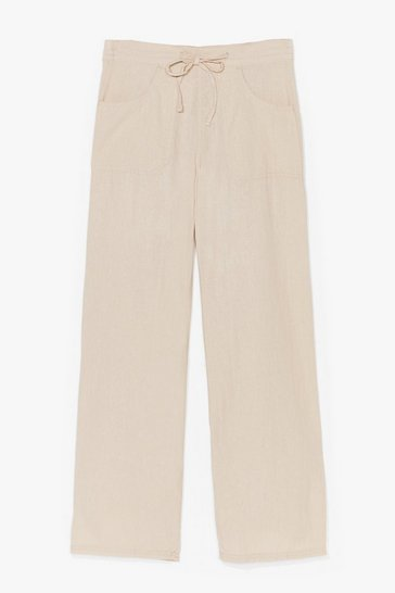 Stone Lay It On the Linen Wide-Leg Pants