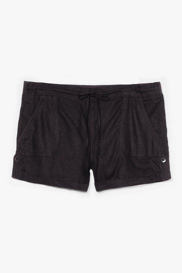 Black Truly Elastic for You Mid-Rise Shorts