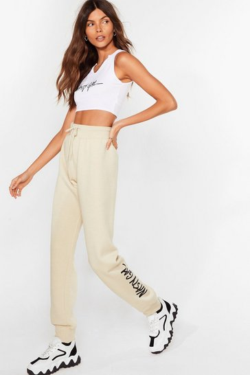 Sand Nasty Gal Word on the Street Relaxed Joggers