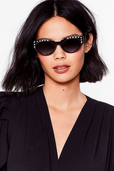 Black Shine By Us Cat-Eye Sunglasses