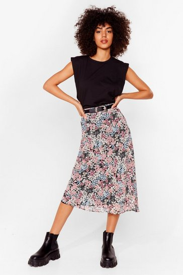 Pink Bud to You Floral Mini Skirt