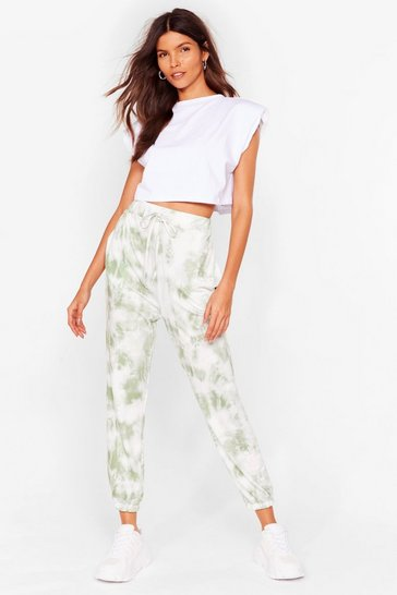Sage Run With It High-Waisted Tie Dye Joggers