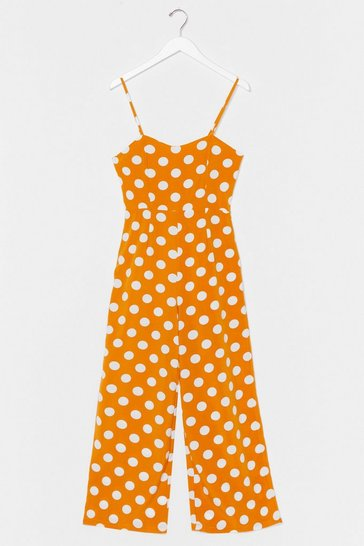 Yellow Spot Me Some Cash Wide-Leg Jumpsuit