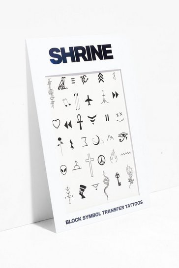 Black Shrine Body Temporary Tattoos