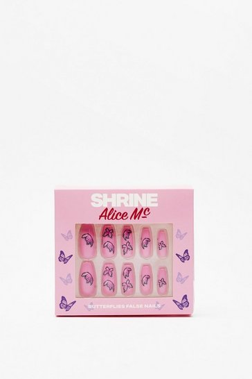 Multi SHRINE x Alice Mc Butterfly Away False Nails