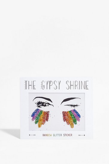 Multi Shrine Rainbow Face Glitter Stickers